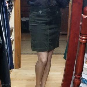 Old Navy olive green corduroy skirt